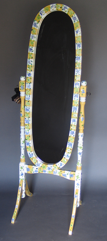 Click Here to order Hand painted furniture! These mirrors are some of our best sellers. Find the perfect gift items. While each one is carefully produced please be aware that without proper shipping these can break! Our shipping prices might seem high but it is for good reason!!!